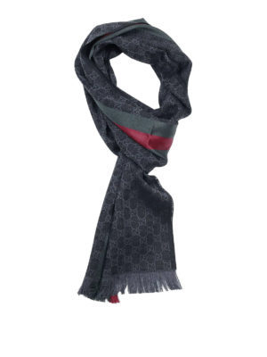 Gucci: scarves - Web detail GG wool and silk scarf