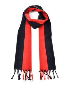 Gucci: scarves - Web patterned wool scarf