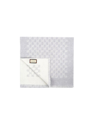 Gucci: scarves - Wool GG signature scarf