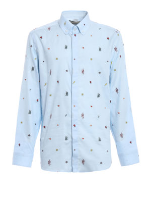 Gucci: shirts - Coloured embroideries Oxford shirt