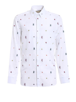 Gucci: shirts - Coloured embroideries white shirt