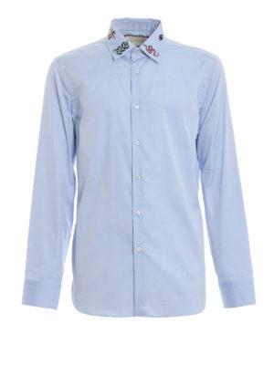 GUCCI: camicie - Camicia con ricami sul colletto