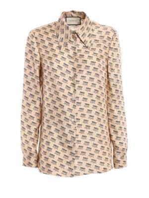 Gucci: shirts - Maison de l'Amour silk shirt