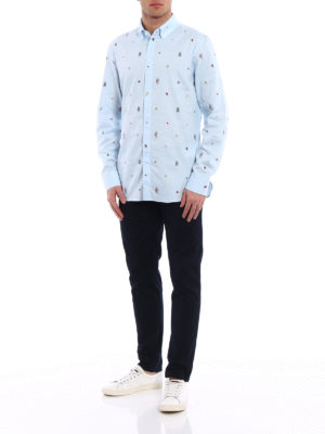 Gucci: shirts online - Coloured embroideries Oxford shirt