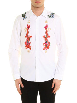 Gucci: shirts online - Embroidered patch shirt