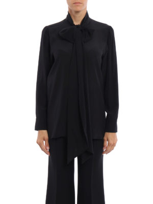 Gucci: shirts online - Printed crepe de chine silk shirt