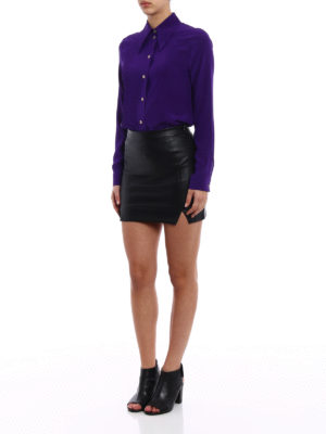 Gucci: shirts online - Purple silk crepe de chine shirt