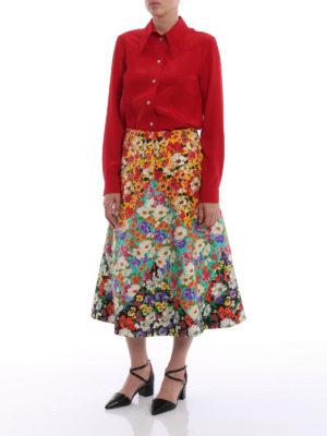 Gucci: shirts online - Red silk crepe de chine shirt