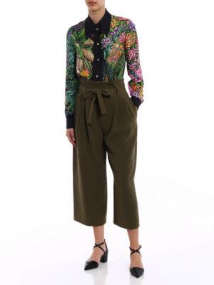 Gucci: shirts online - Woodland and fawn print silk shirt