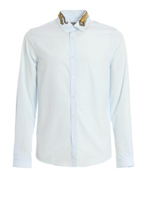 Gucci: shirts - Tiger patch detail shirt
