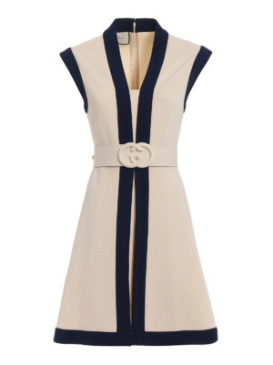 Gucci: short dresses - Compact two-tone jersey dress