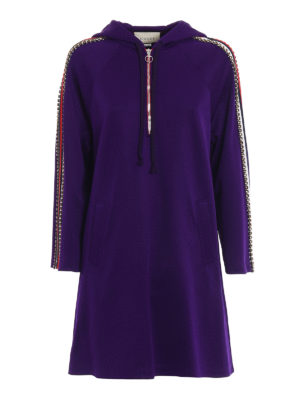 Gucci: short dresses - Hoodie style technical jersey dress
