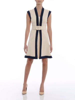 Gucci: short dresses online - Compact two-tone jersey dress