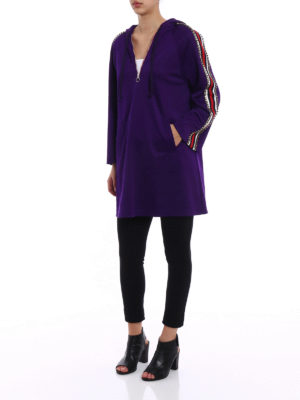 Gucci: short dresses online - Hoodie style technical jersey dress