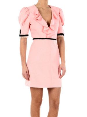 Gucci: short dresses online - Silk and wool bon ton dress