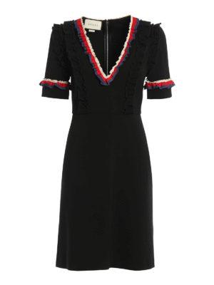 Gucci: short dresses - Ruffle detail short dress