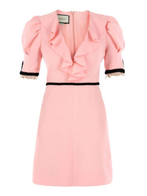 Gucci: short dresses - Silk and wool bon ton dress