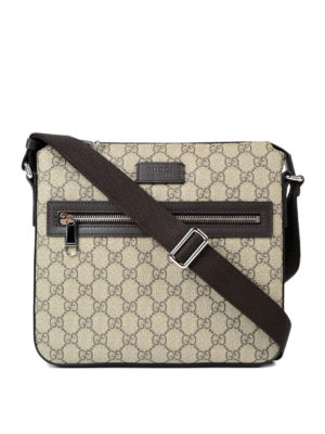 Gucci: shoulder bags - GG Supreme canvas messenger bag