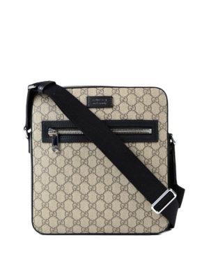 Gucci: shoulder bags - GG Supreme canvas messenger bag