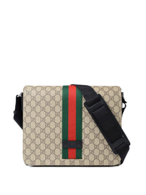 Gucci: shoulder bags - GG Supreme Web fold over bag
