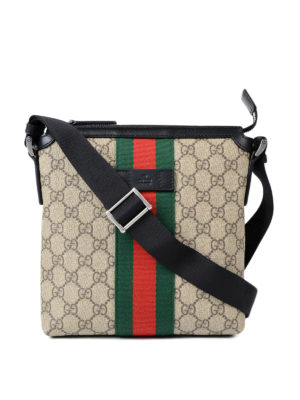 Gucci: shoulder bags - GG Supreme Web messenger bag