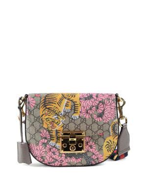 Gucci: shoulder bags - Gucci Bengal GG canvas saddle bag