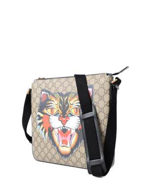 Gucci: shoulder bags online - Angry Cat canvas messenger bag