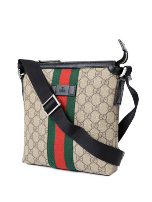 Gucci: shoulder bags online - GG Supreme Web messenger bag