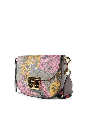 Gucci: shoulder bags online - Gucci Bengal GG canvas saddle bag