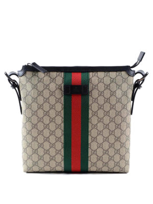 Gucci: shoulder bags - Original GG canvas Web messenger