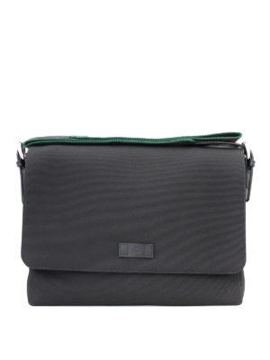 Gucci: shoulder bags - Techno canvas messenger bag