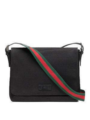 Gucci: shoulder bags - Techno canvas small messenger bag
