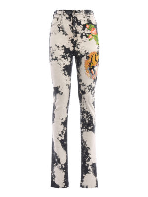Gucci: skinny jeans - Patch detail spotted effect jeans