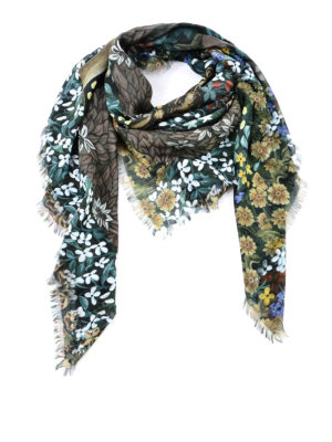 Gucci: Stoles & Shawls - Floral patterned shawl