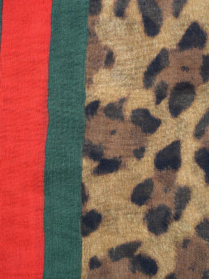 Gucci: Stoles & Shawls online - Silk blend animal print foulard