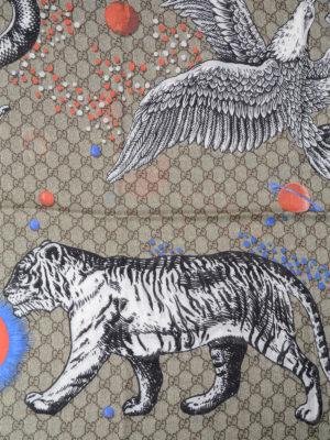 Gucci: Stoles & Shawls online - Space Animals print shawl