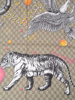 Gucci: Stoles & Shawls online - Space Animals print shawl