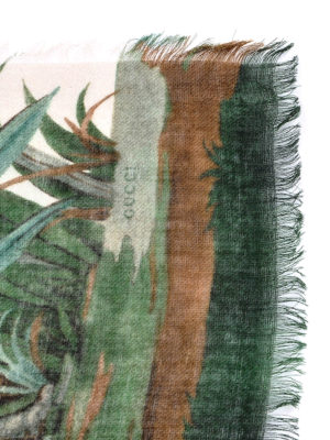 Gucci: Stoles & Shawls online - Tian print wool and silk shawl