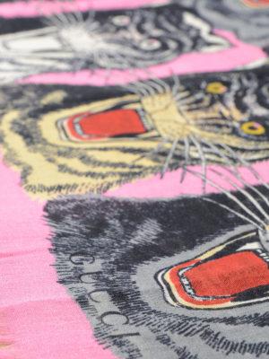 Gucci: Stoles & Shawls online - Tiger print fringed shawl