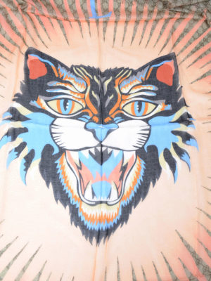 Gucci: Stoles & Shawls online - Tiger print modal and silk shawl