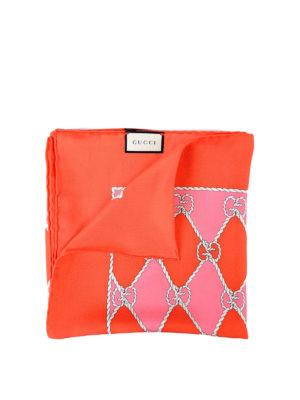 Gucci: Stoles & Shawls - Rhombus print silk foulard