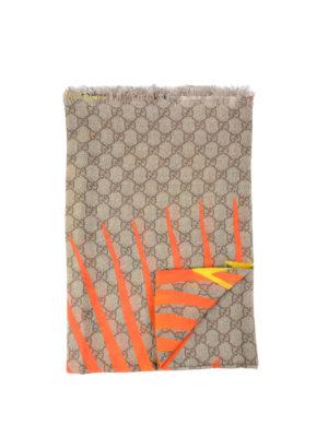 Gucci: Stoles & Shawls - Tiger print modal and silk shawl