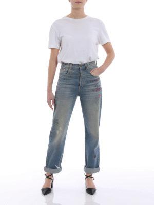 Gucci: straight leg jeans online - Sprovveduta Età embroidered jeans