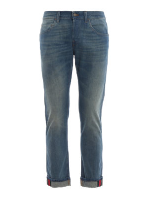 Gucci: straight leg jeans - Web detail relaxed fit jeans