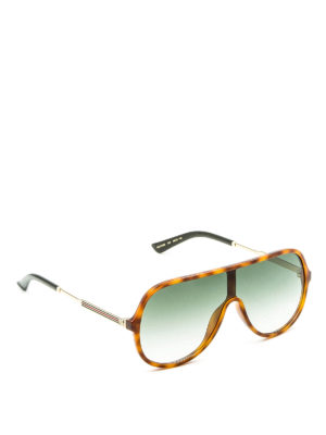 Gucci: sunglasses - Acetate mask sunglasses