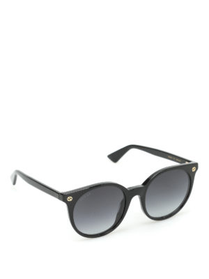Gucci: sunglasses - Acetate rounded sunglasses