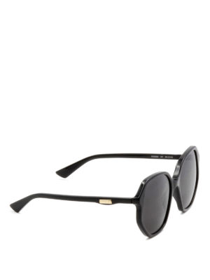 Gucci: sunglasses - Black geometric sunglasses