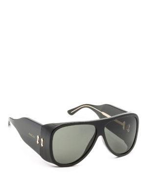 Gucci: sunglasses - Black maxi sunglasses