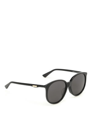 Gucci: sunglasses - Black sunglasses with grey lenses