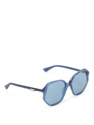 Gucci: sunglasses - Blue geometric sunglasses